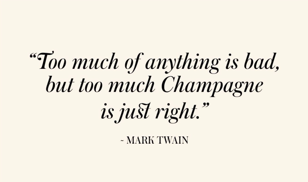 Champagne Quotes - Mark Twain